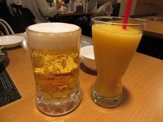 ビールとフローズンマンゴージュース