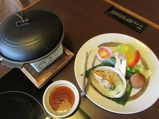 鮑バター焼き(陶板焼き)
