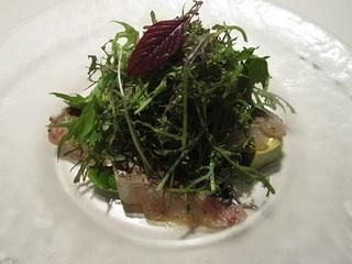 太刀魚のカルパッチョ サラダ仕立て