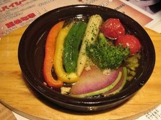 季節野菜のアヒージョ