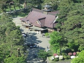 五稜郭タワーからの箱館奉行所